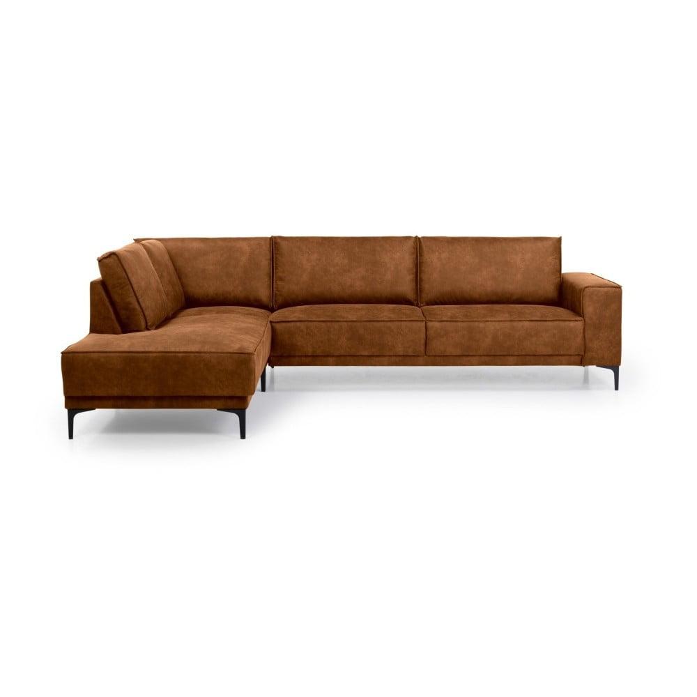 Brązowa sofa narożna Scandic Copenhagen, lewostronna
