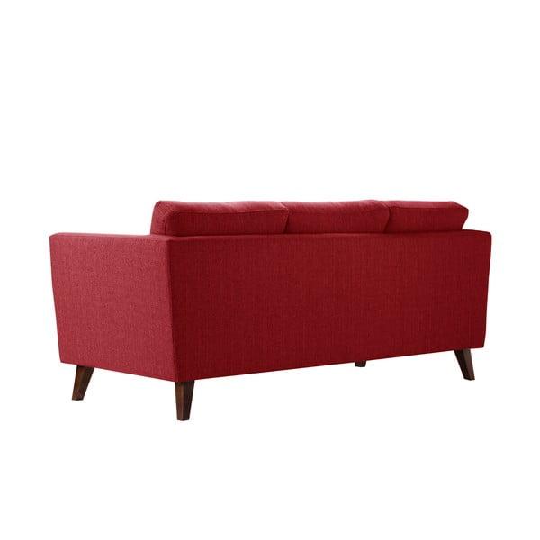 Czerwona sofa trzyosobowa Jalouse Maison Elisa