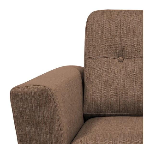 Brązowa sofa 3-osobowa Vivonita Harlem
