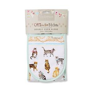 Podwójna rękawica kuchenna Cooksmart England Cats on Parade