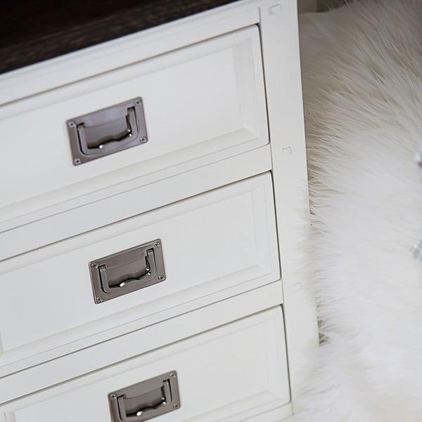 Biała komoda Canett Skagen, 3 szuflady
