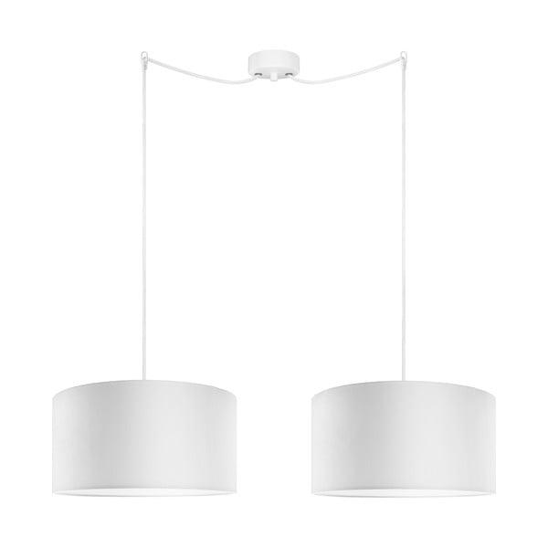 Biała podwójna lampa wisząca Bulb Attack Tres, ⌀ 36cm