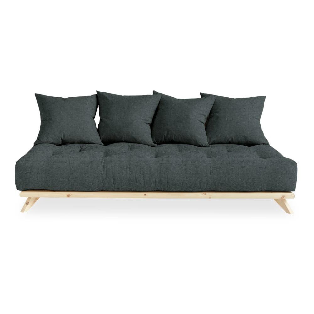 Sofa z ciemnoszarym obiciem Karup Design Senza Natural/Slate Grey