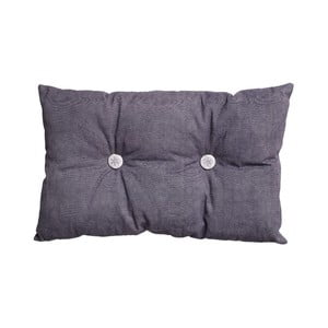 Poduszka z wypełnieniem Button 65x40 cm, fioletowa