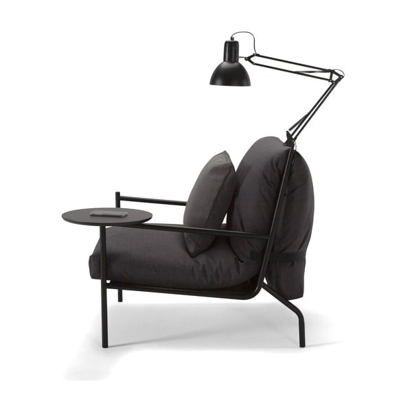 Ciemnoszary fotel Innovation Noir Chair