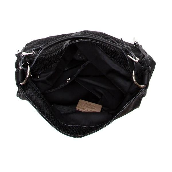 Skórzana torebka Clair, czarna