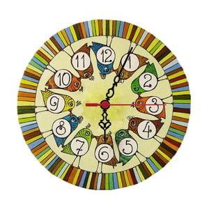Zegar ścienny Bird Kiss, 30 cm