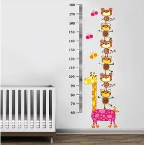 Naklejka ścienna Żyrafa i misie, 60x90 cm