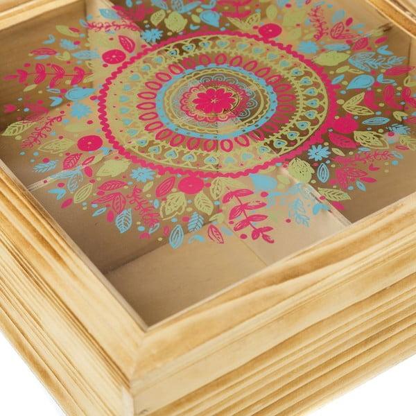 Pudełko z 4 przegródkami Mandala