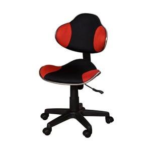 Czerwonoczarne krzesło biurowe SOB Office