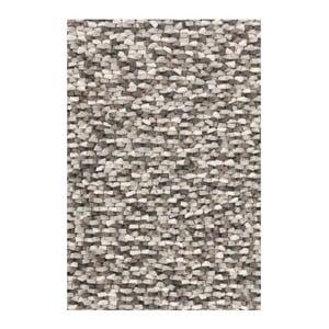 Wełniany dywan Crush Grey, 140x200 cm