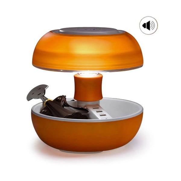 Lampa stołowa, ładowarka i głośnik w jednym Joyo Light, pomarańczowa