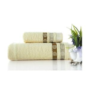 Zestaw 2 ręczników Truva Cream, 90x150 i 50x90 cm
