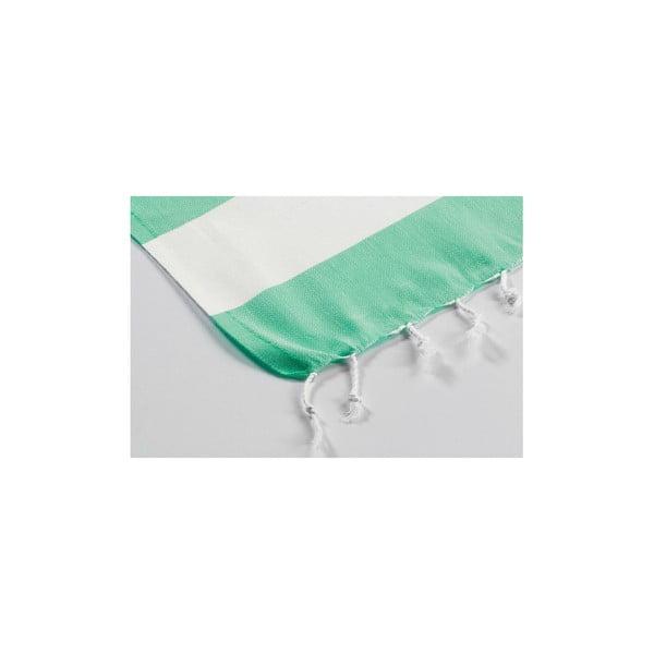 Ręcznik hamam Myra Green White, 100x180 cm