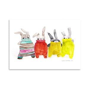 Plakat Bunnies, 30x42 cm