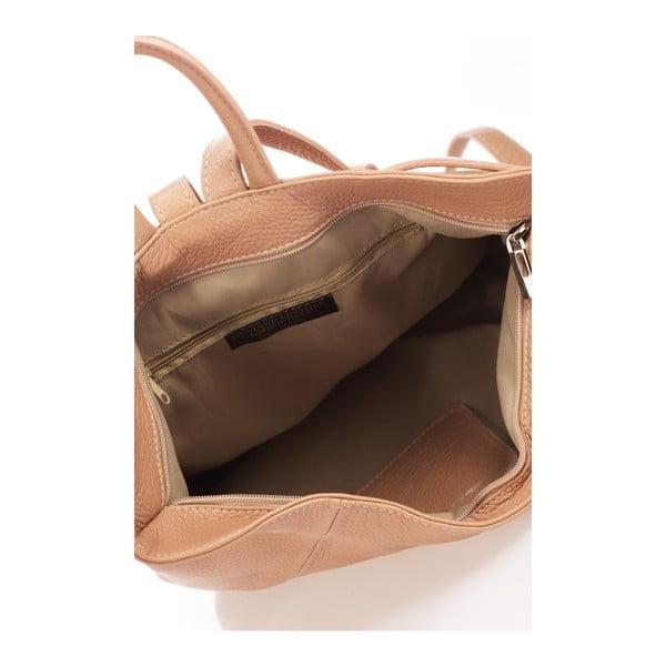 Różowobeżowy plecak skórzany Lisa Minardi Narni