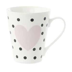 Kubek porcelanowy Miss Étoile Coffee Black Dots and Rose Heart