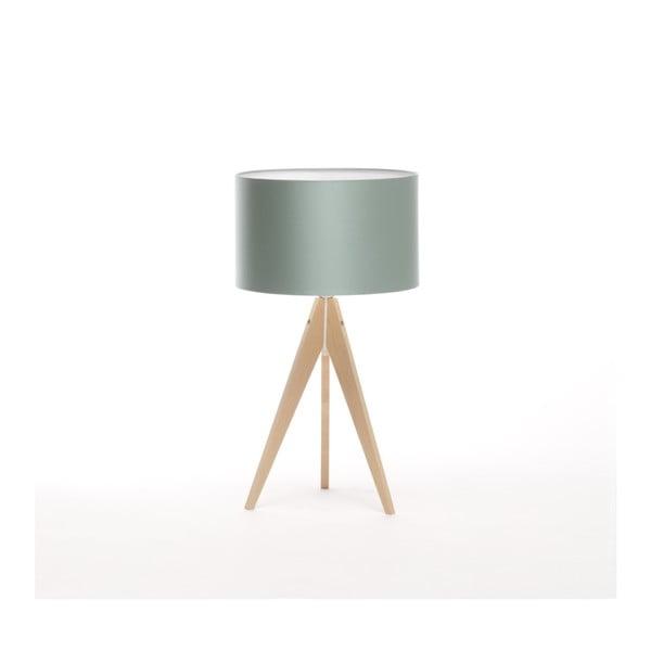 Stalowo-niebieska lampa stołowa 4room Artist, brzoza, Ø 33 cm