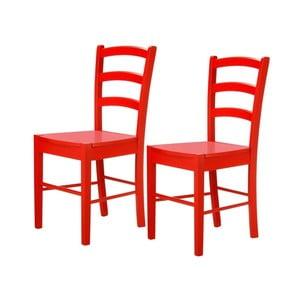 Zestaw 2 czerwonych krzeseł Støraa Trento Quer