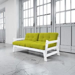 Sofa rozkładana Karup Step White/Pistacio