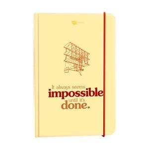 Notatnik It always seems impossible until it's done
