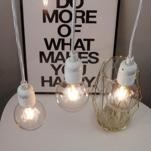 Biała lampa wisząca z 3 kablami Bulb Attack Uno Basic