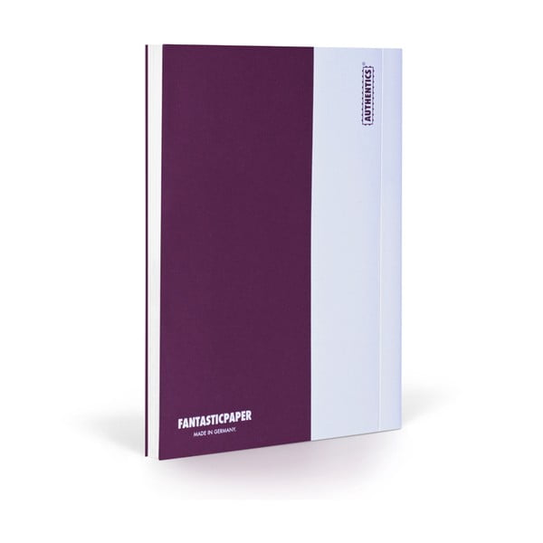 Notes FANTASTICPAPER XL Aubergine/White, gładki
