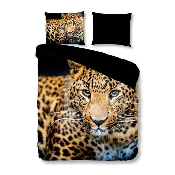 Pościel dwuosobowa z mikroperkalu Muller Textiels Pure Wild Leopard, 200x200 cm