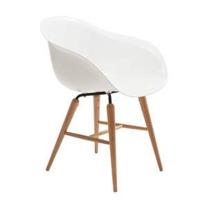 Białe krzesło do jadalni Kare Design Armlehe Forum