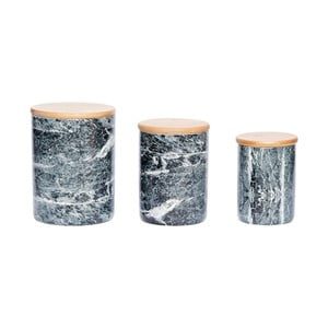 Zestaw 3 pojemników ceramicznych Hübsch Kjeld