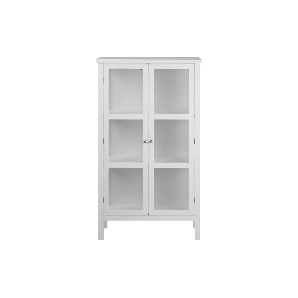 Biała witryna dwudrzwiowa Actona Eton, wys. 136 cm