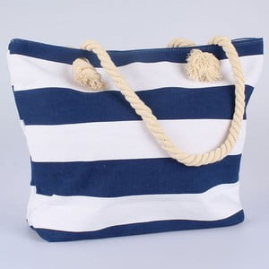 Niebiesko-biała torba materiałowa Dakls