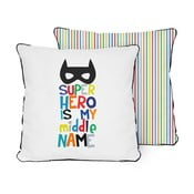 Dwustronna poduszka Little Nice Things Superhero