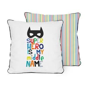 Dwustronna poduszka Little Nice Things Superhero