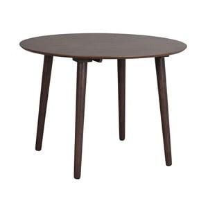 Brązowy stół z drewna kauczukowego Rowico Lotte