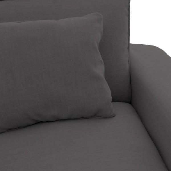 Antracytowy fotel Vivonita Jane