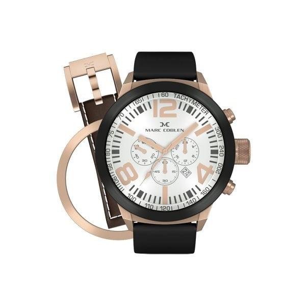Zegarek męski Marc Coblen z dodatkowym paskiem i obręczą P40