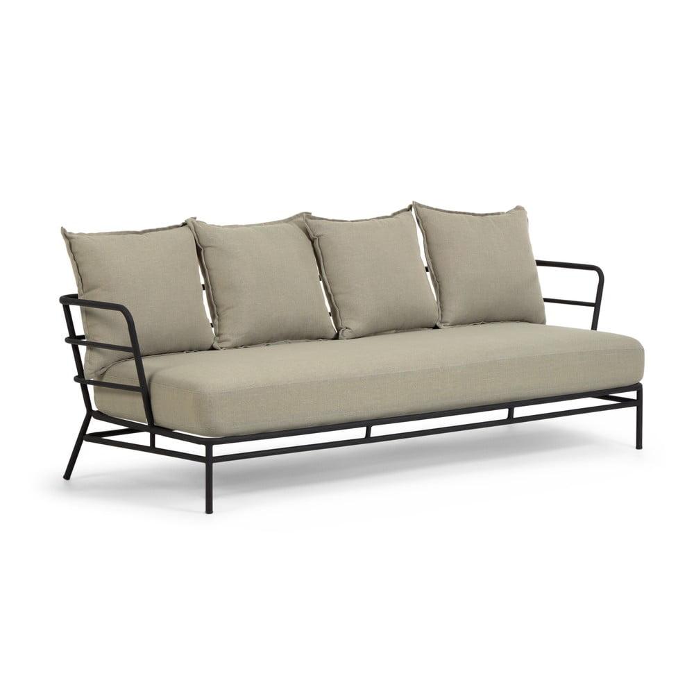 Beżowa sofa ogrodowa z metalową konstrukcją La Forma Mareluz