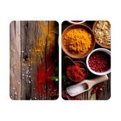 Zestaw 2 szklanych płyt ochronnych na kuchenkę Wenko Spice