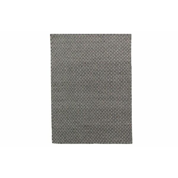 Dywan wełniany Flat, 160x230 cm, czarny