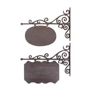 Zestaw 2 żeliwnych szyldów Esschert Design