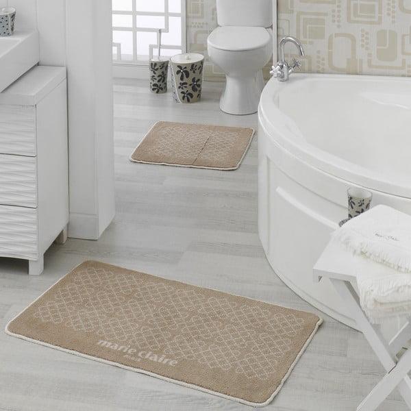 Zestaw 2 brązowych dywaników łazienkowych Milla