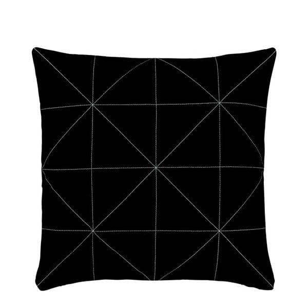 Poduszka z wypełnieniem Triangle Black, 45x45 cm