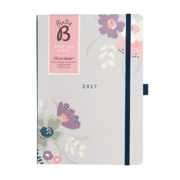 Kalendarz Busy B Busy Life Floral 2017