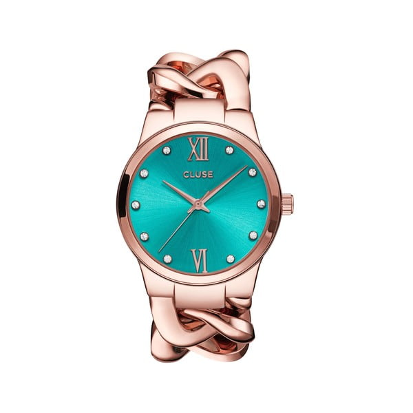 Zegarek damski Elegante Stones Rose Gold/Mint, 38 mm