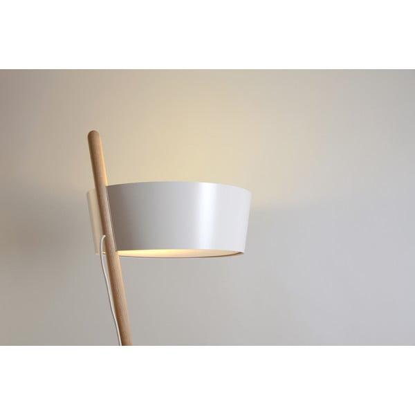 Biała lampa stojąca Woodendot Ka L