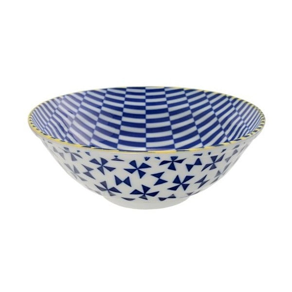 Porcelanowa miska Geo Noodle Blue, 21x7,8 cm