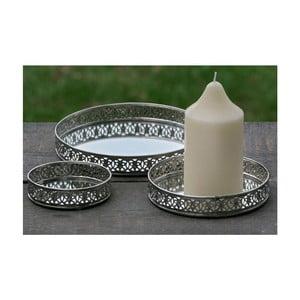 Zestaw 3 podstawek pod świeczki Candle Plate