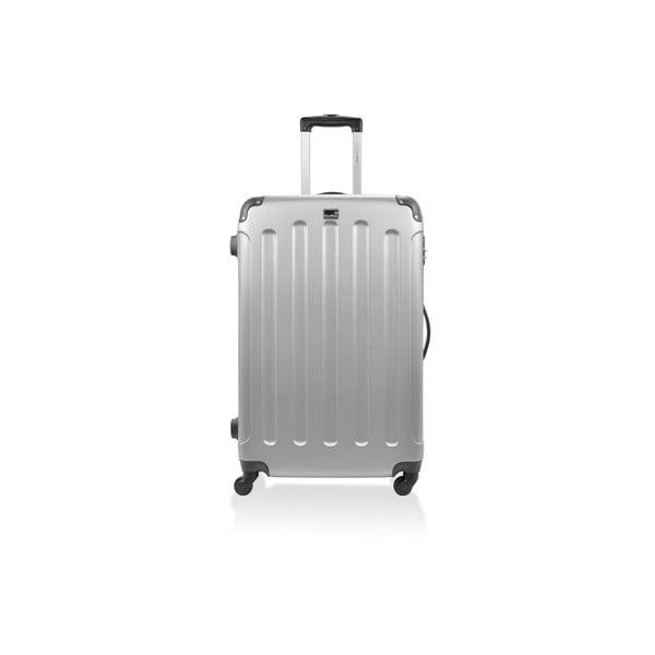 Srebrna walizka na kółkach Bluestar,46l