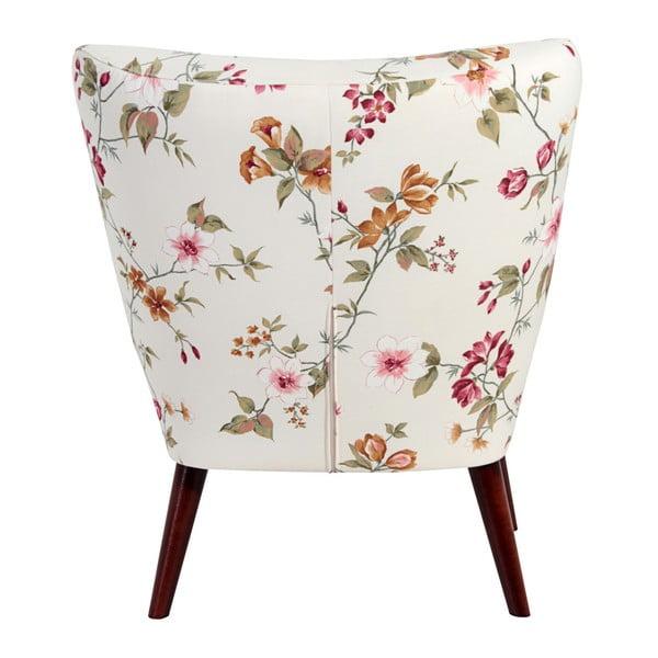 Biały fotel wkwiaty Max Winzer Neele